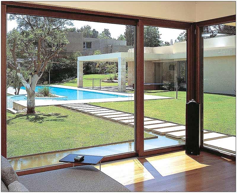 Stylish sliding patio glass doors
