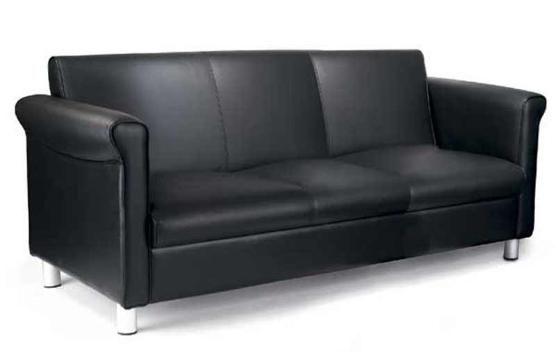 Thomasville Patio Home Office Leather Sofa
