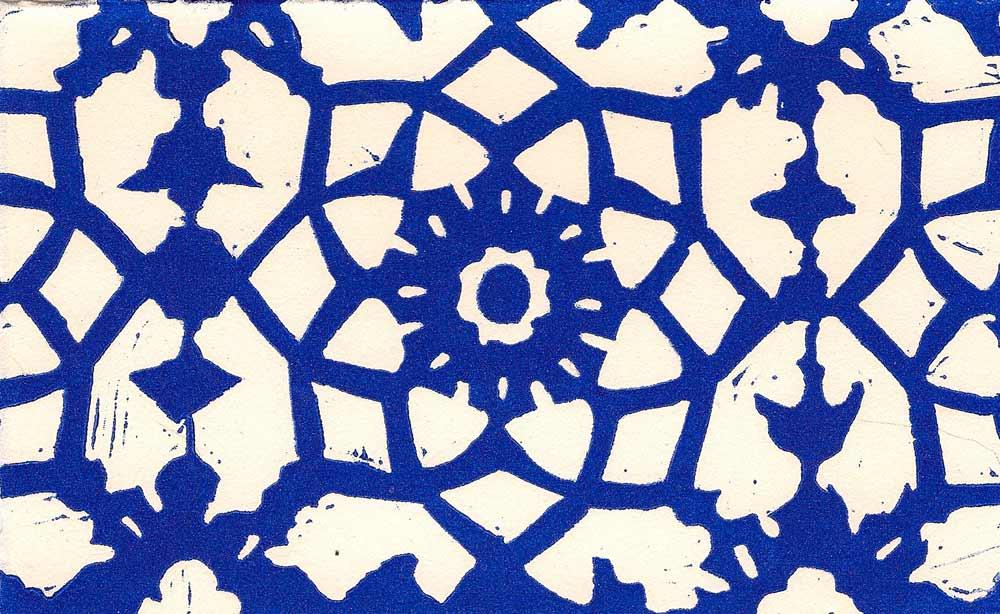 decorative blue home ceramic tile motif