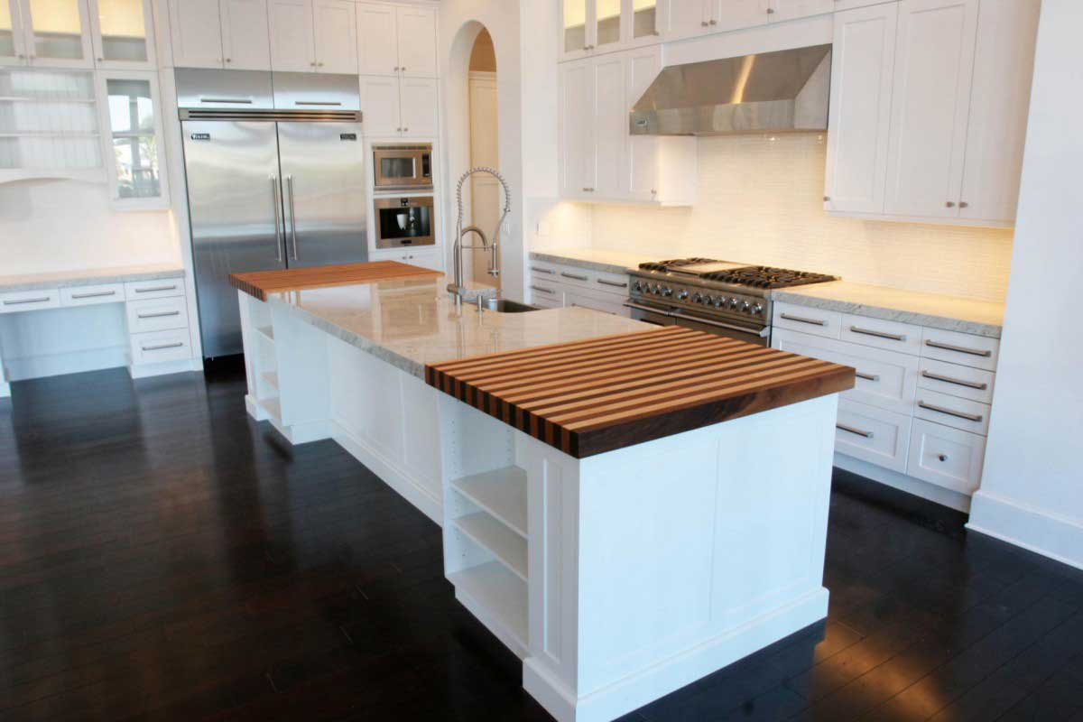 modern dark wooden floor for kitchen