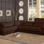 Bella Contemporary Leather Brown Sectional