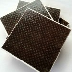 Bonnie Conster Glitter Brown Coasters Tile Sets