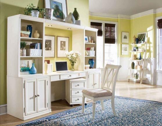 Camden Economical White Desk Collection