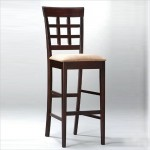 Coaster Hyde Wheat Back Bar Stool with Cappuccino Fabric Seat