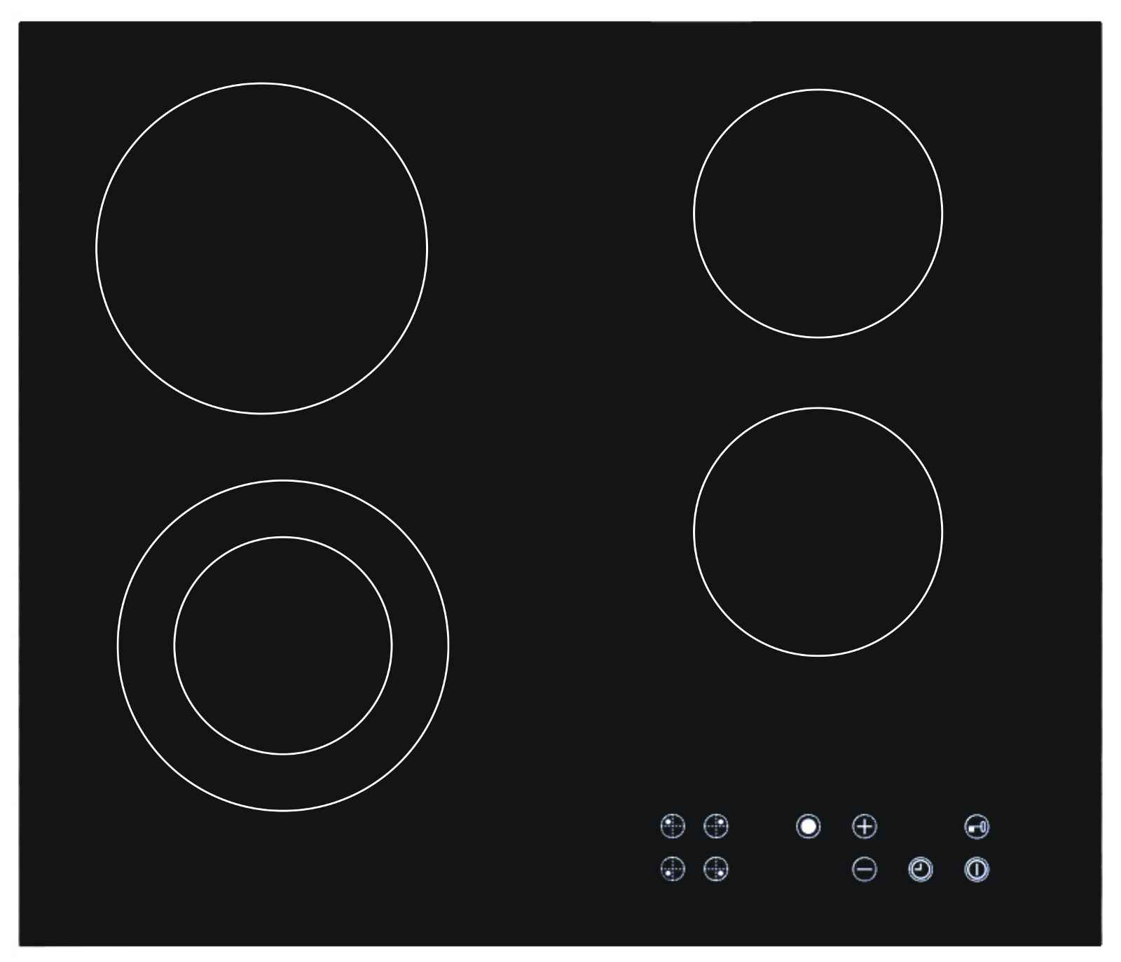 Elegant Black Ceramic Stove Top Hob