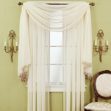 Elegant cheap curtains and drapes in white