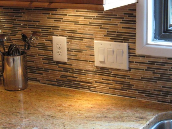 Emily Straight Mosaic Kitchen Backsplash Design