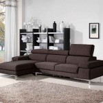 Fabric Dark Brown Home Sectional Sofas