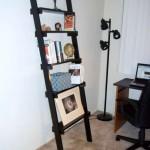 Michigan 5 Shelf Black Ladder Bookshelf