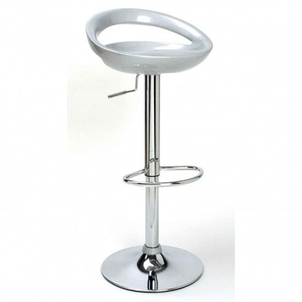 Modern Cheap Bar Stools with Backs in Silver