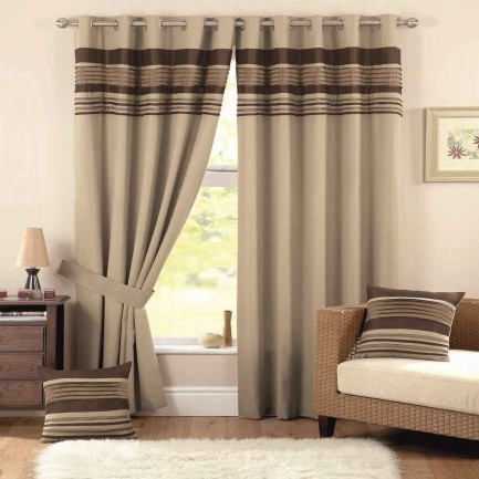 Toronto home sheer tab brown curtain and drapes