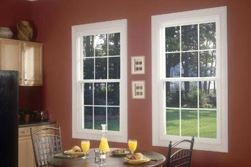 White and Brown Vinyl Windows