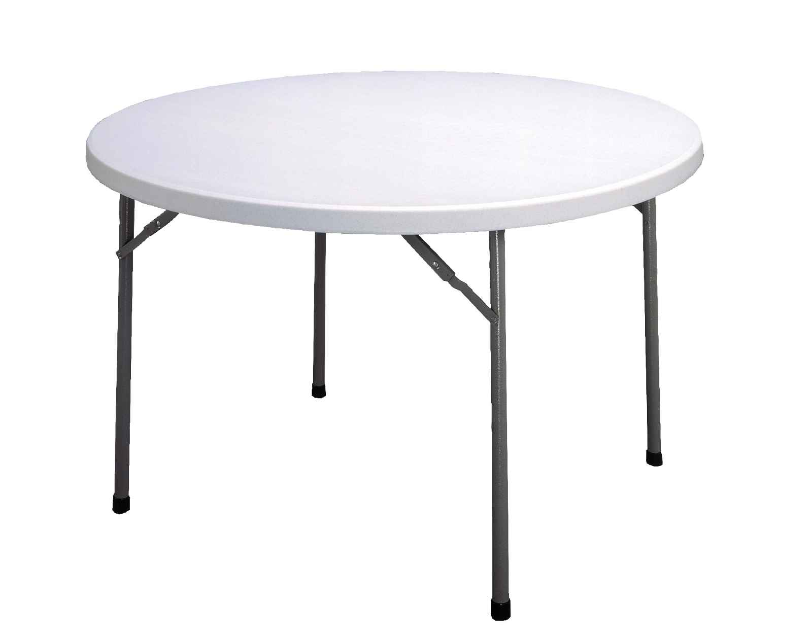 White round folding tables for commercial use