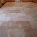 kitchen tile floor with brick pattern