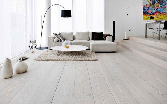 Designer White Shade Wooden Flooring for Living Room