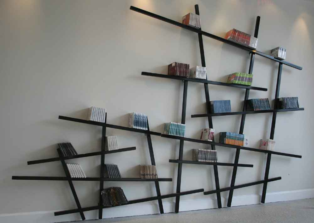 Edition Compagnie lacquered geometric wall shelf