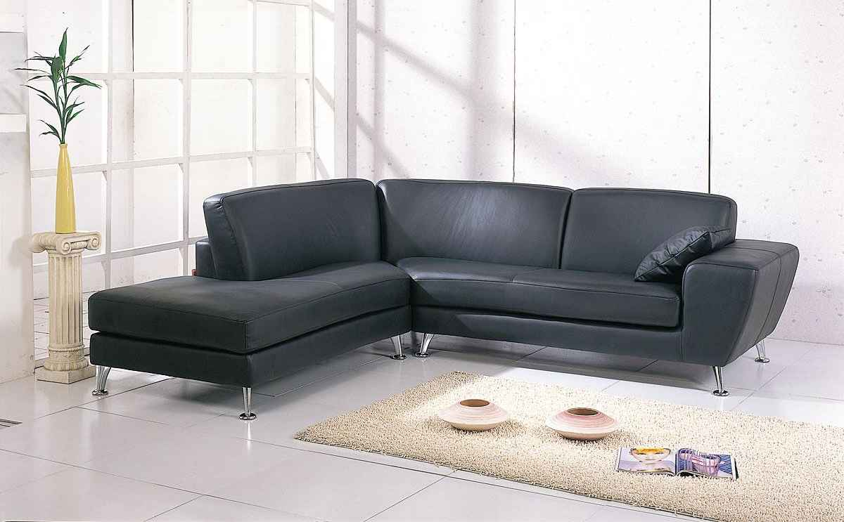 Julie Designer Corner Sofas in Black Cover