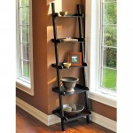 Linea hadfield leaning ladder bookshelf in wood
