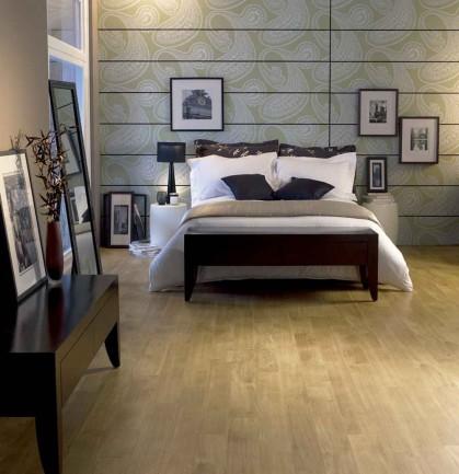Luxury bedroom with cheap vinyl tile