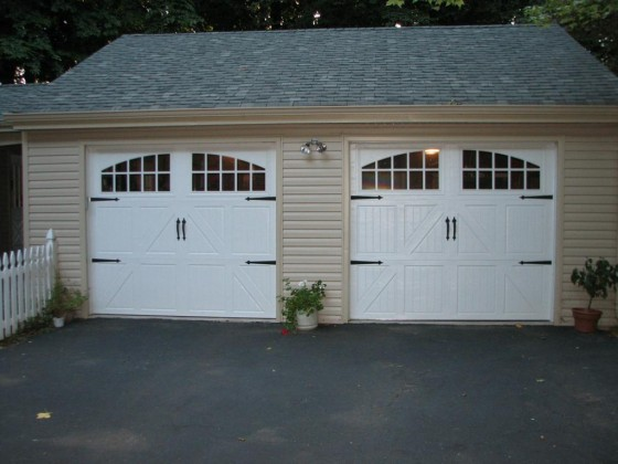 Sunrise Double Garage Door in White