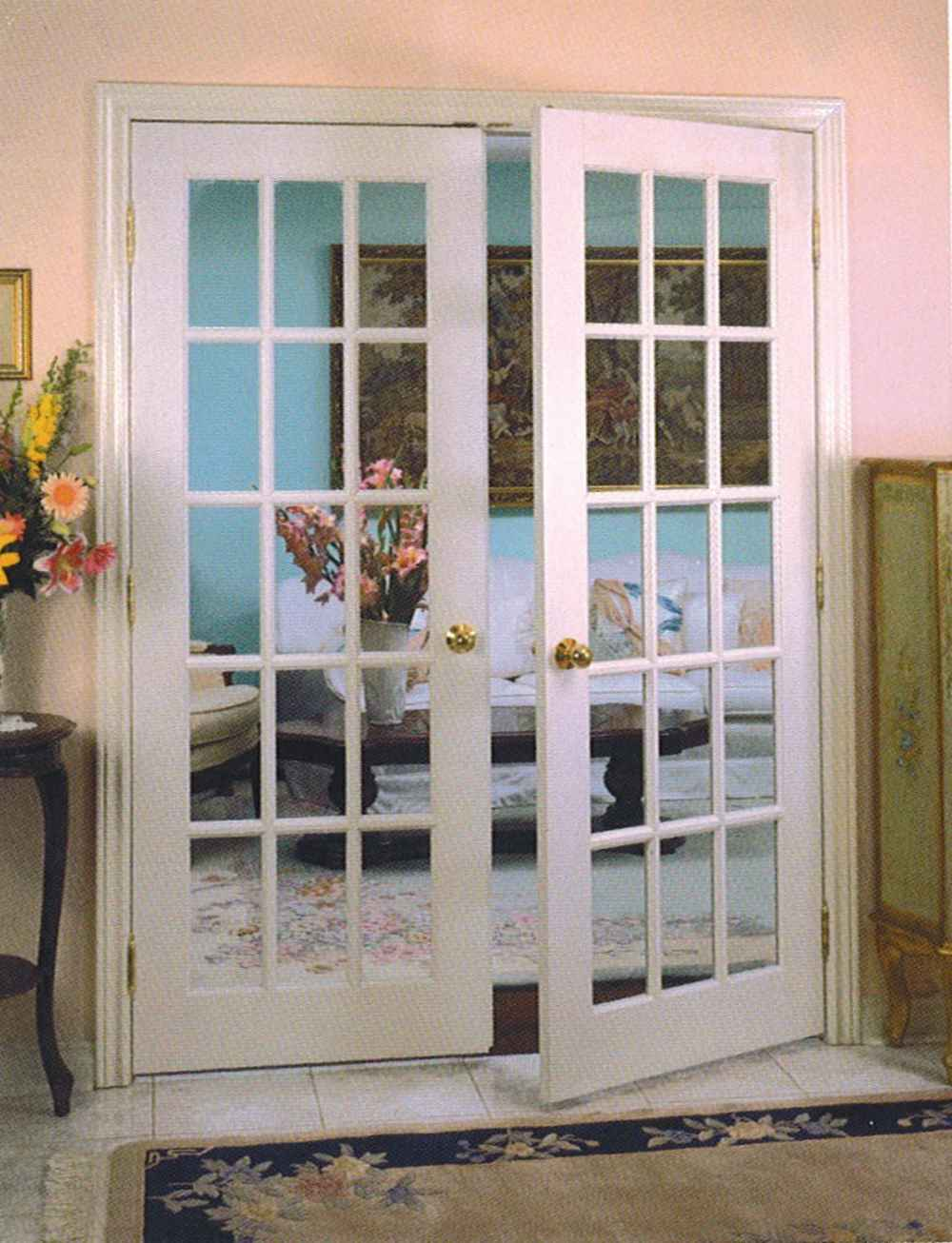 cheap storm doors in hardwood