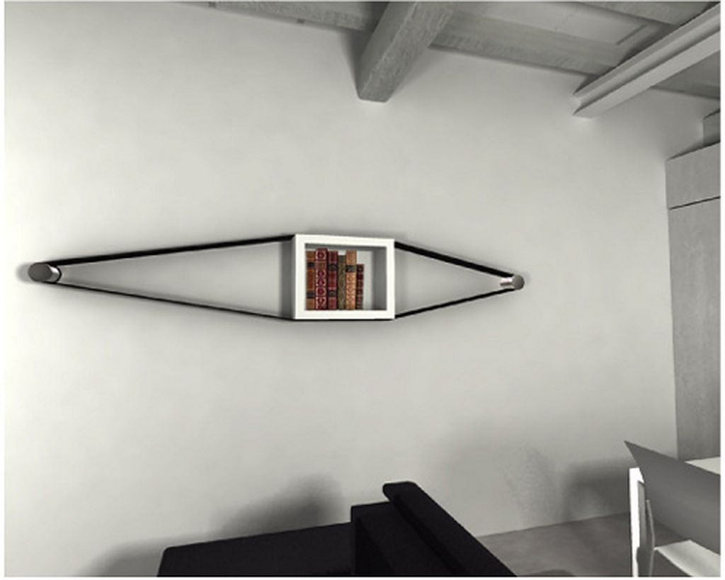 elastico creative wall mounted bookcases