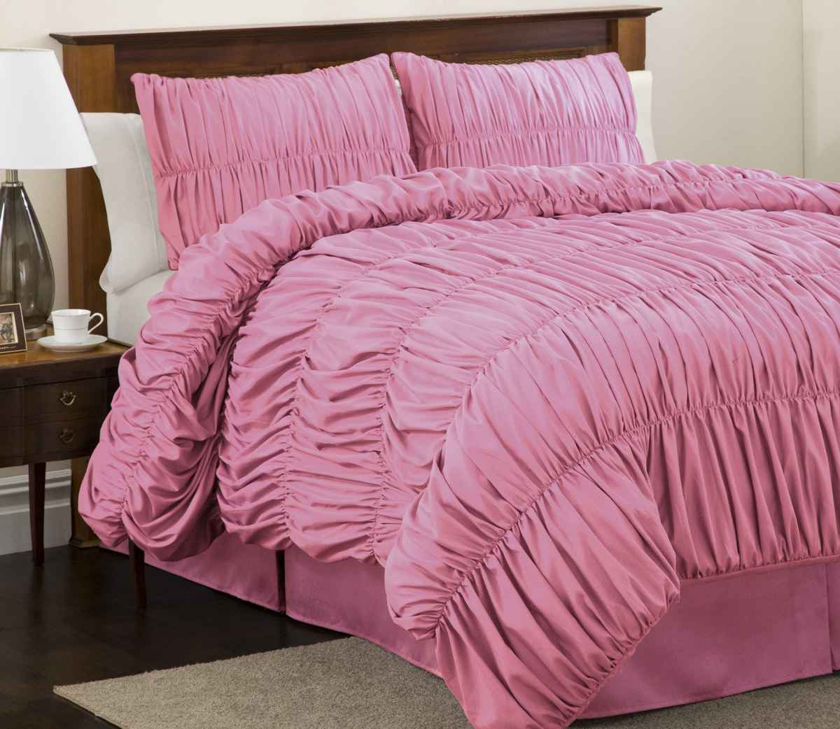 pink ruffle bedspreads ideas for bedroom