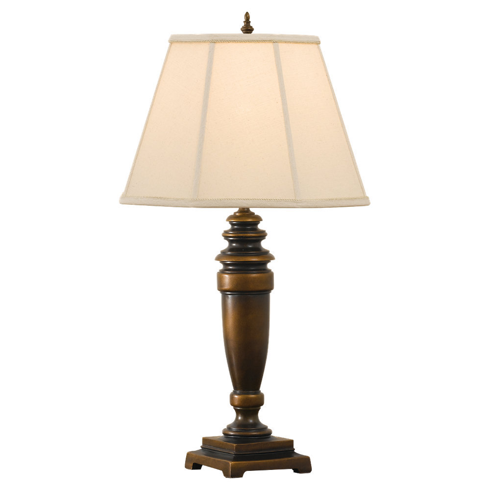 Decorative astral bedroom table lamp in bronze