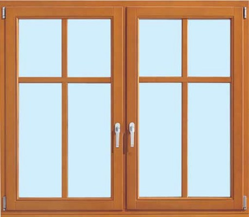 Double Side Wooden Window with Glass
