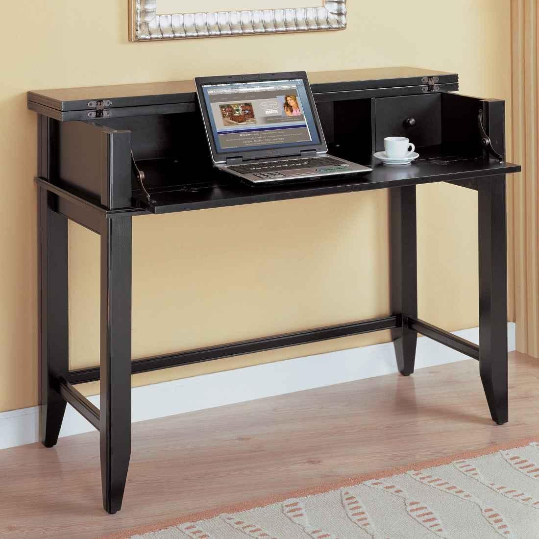 Kathy Ireland tribeca black writing desks