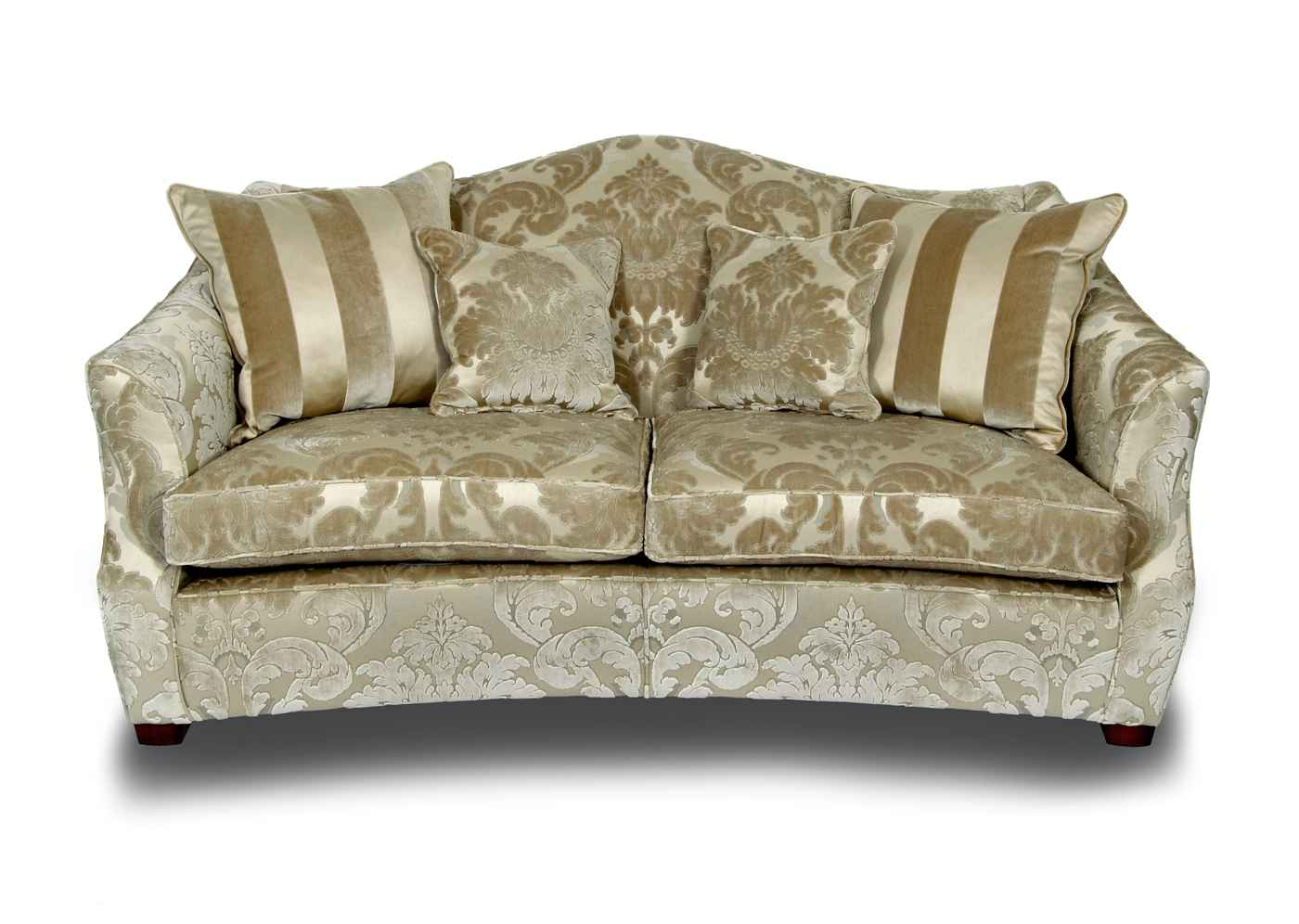 Manolo Gold Flock Fabric Sofas