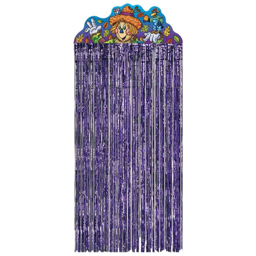 Purple hanging door curtains for kids