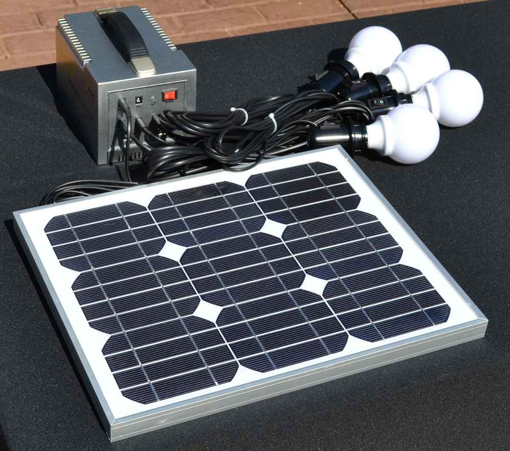 Solar System for Home Lighting