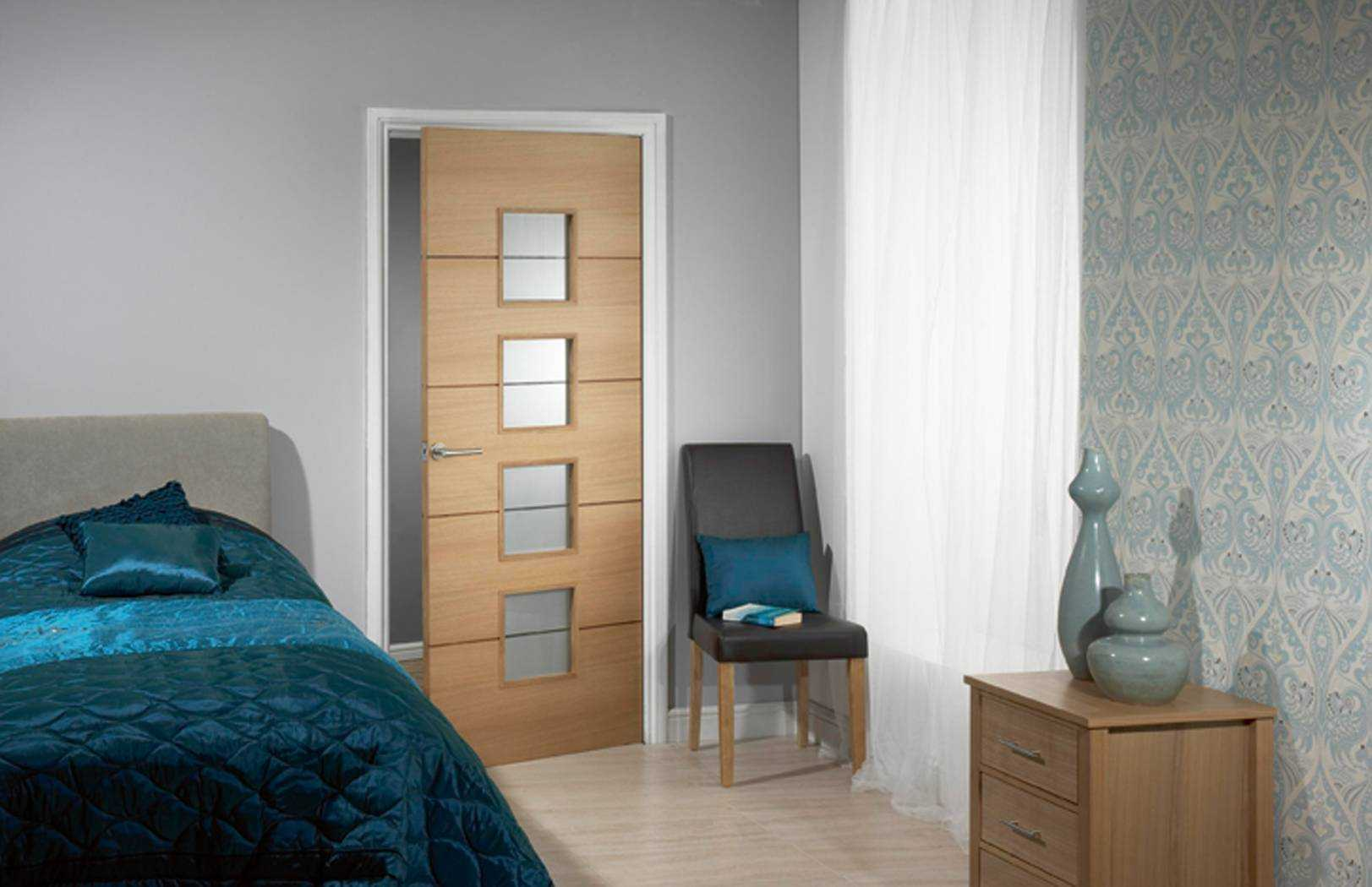Steel and fiberglass bedroom doors