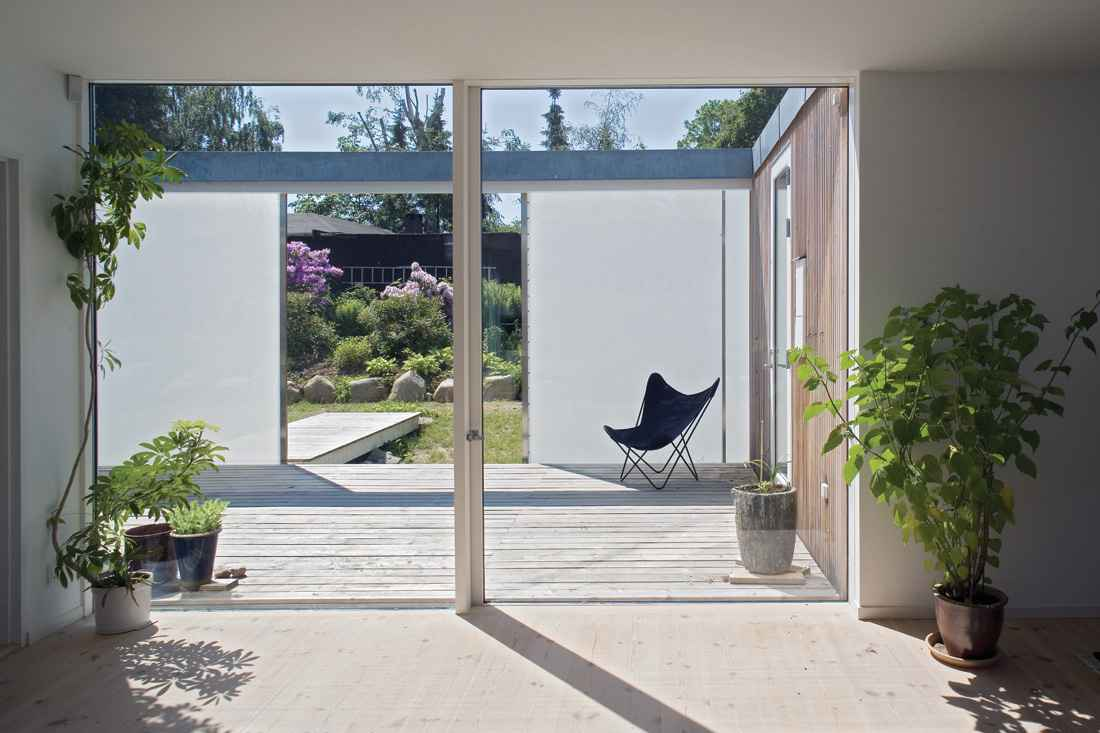 Two panel glass sliding door