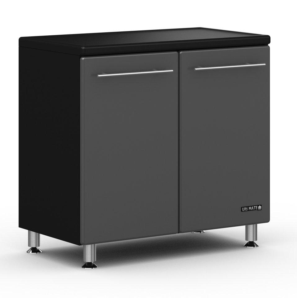 Ulti Mate Black Modern Utility Base Cabinet