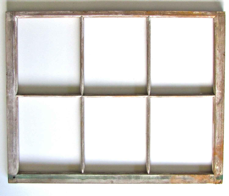 Vintage Six Panels Wooden Window Frames
