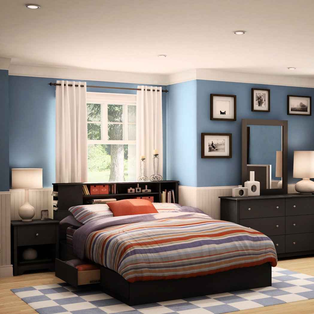 Vito Storage and Bookcase Platform Bed from South Shore