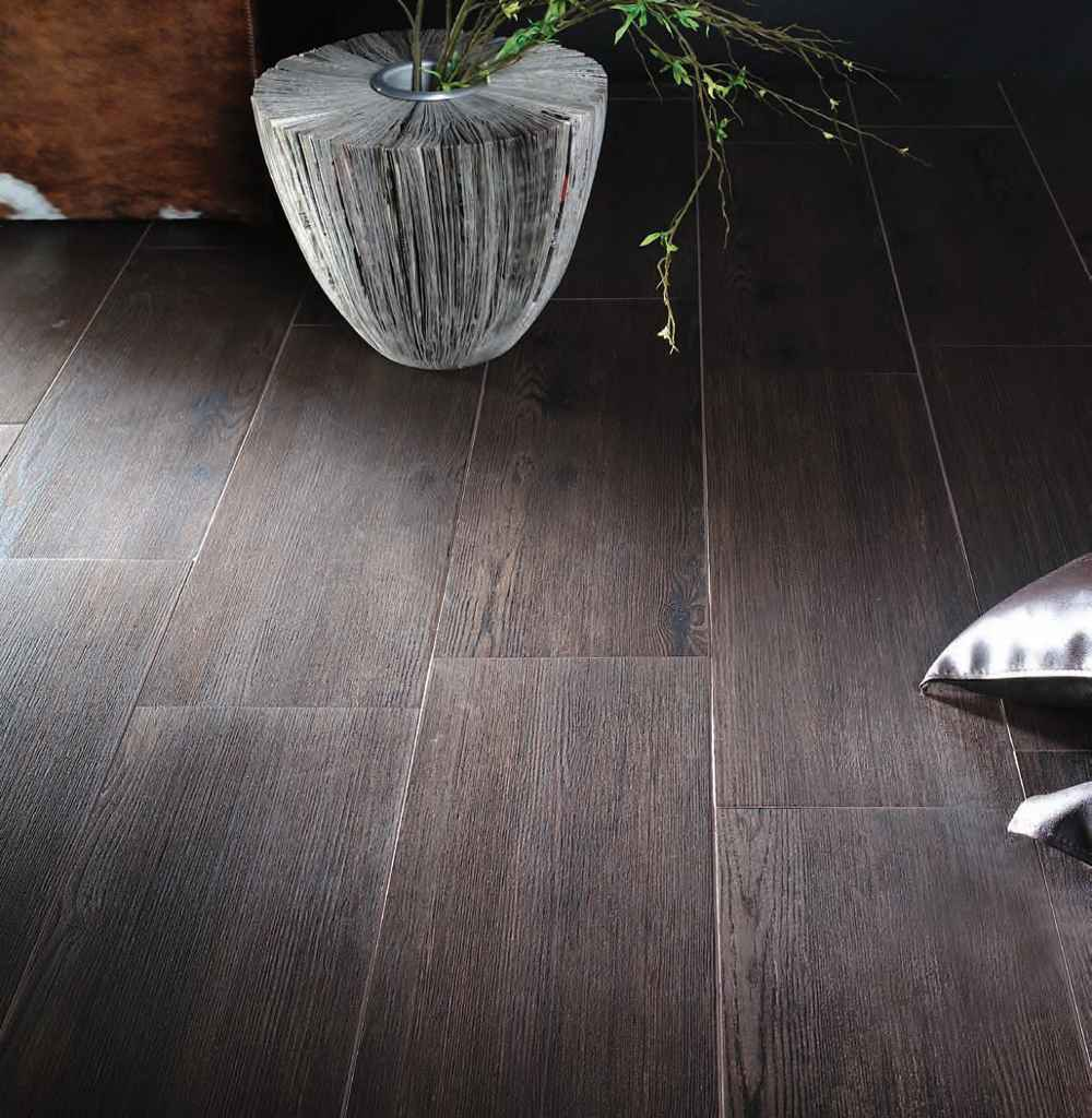 Wenge black wood grain ceramic tile