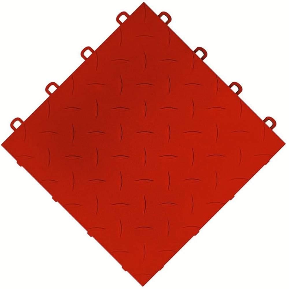 interlocking red ceramic garage tiles
