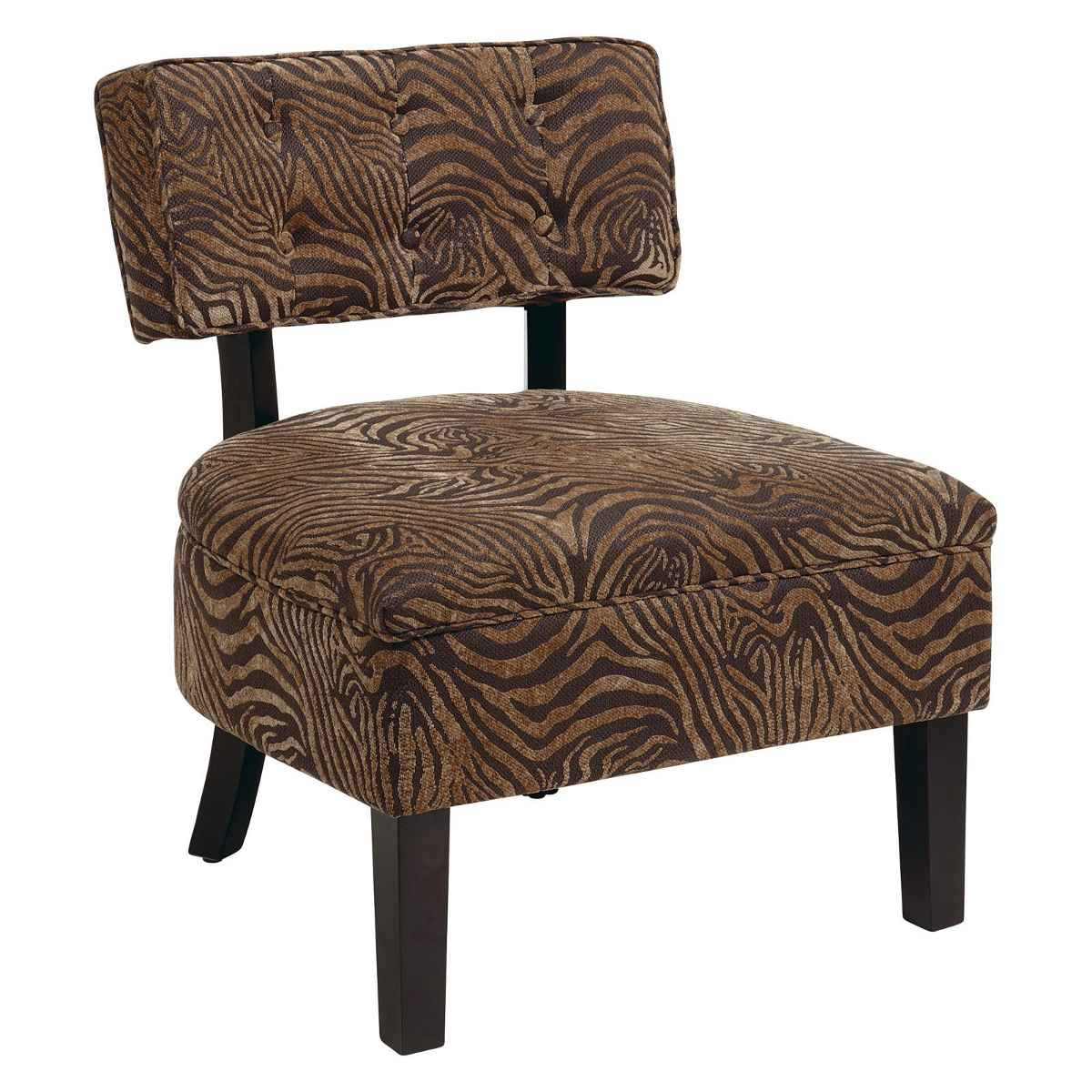 uban style espresso accent chairs