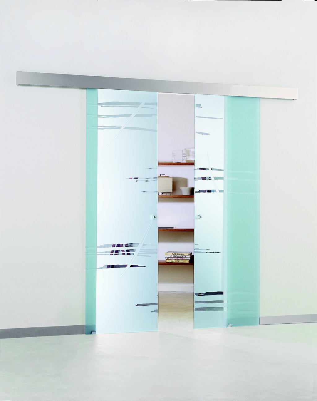 wall mounted glass sliding door