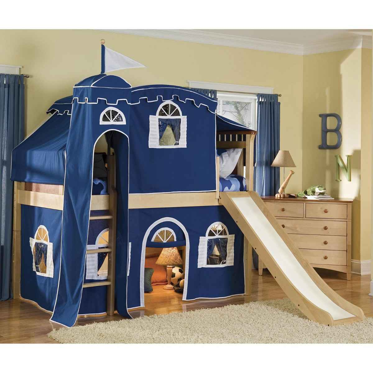 Blue Tent Castle Bed for Children