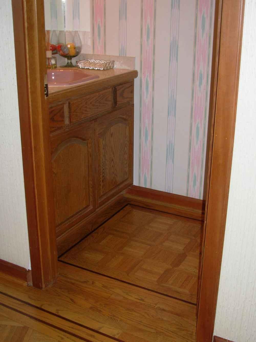 Brown Bathroom Tile for Wastafel