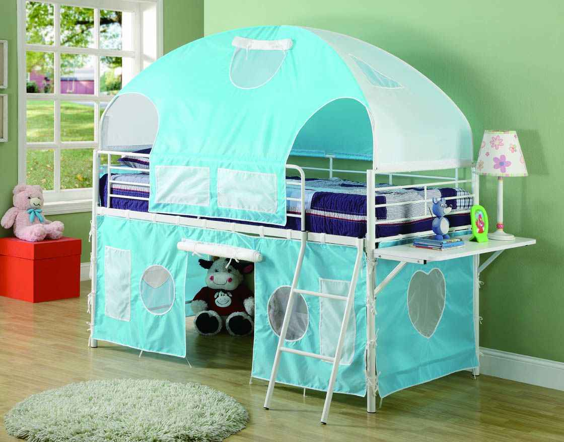 Coaster Blue Loft Canopy Beds for Kids