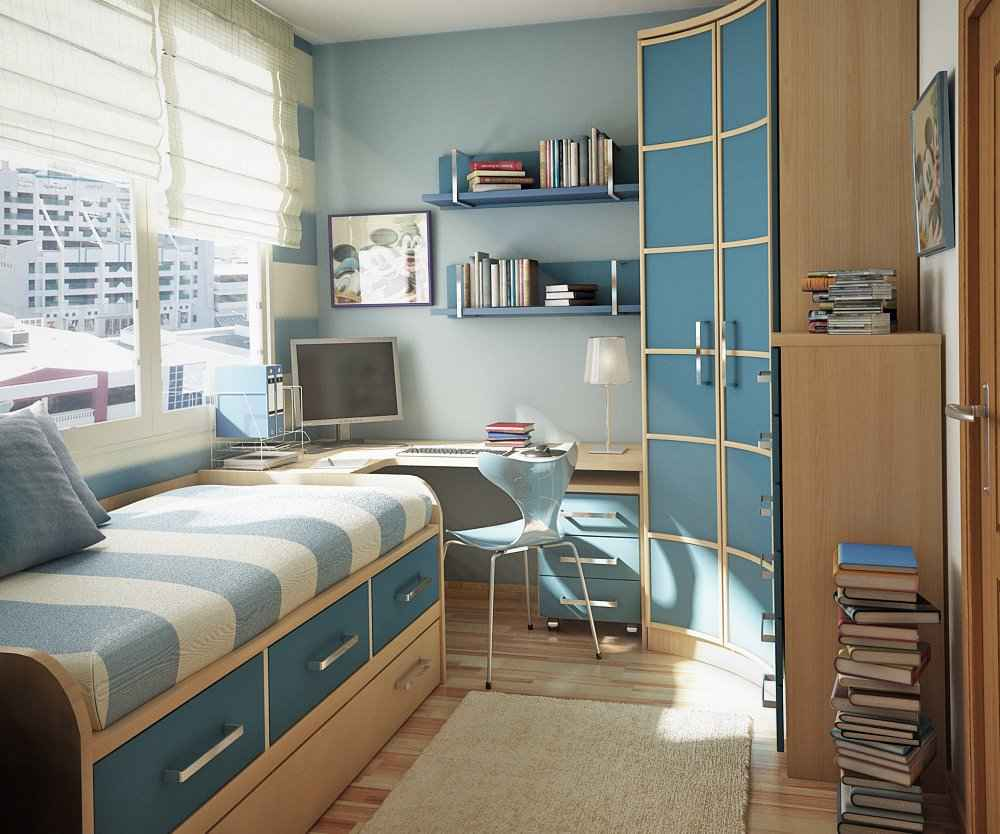Contemporary space saving teen bedroom ideas