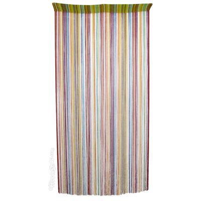 Hippie Door Curtain with Color String Burst