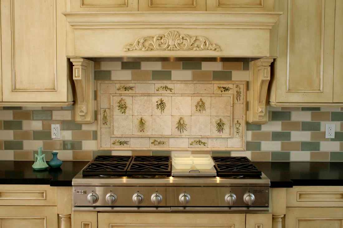 Natural Stone Kitchen Backsplash in Divine Design
