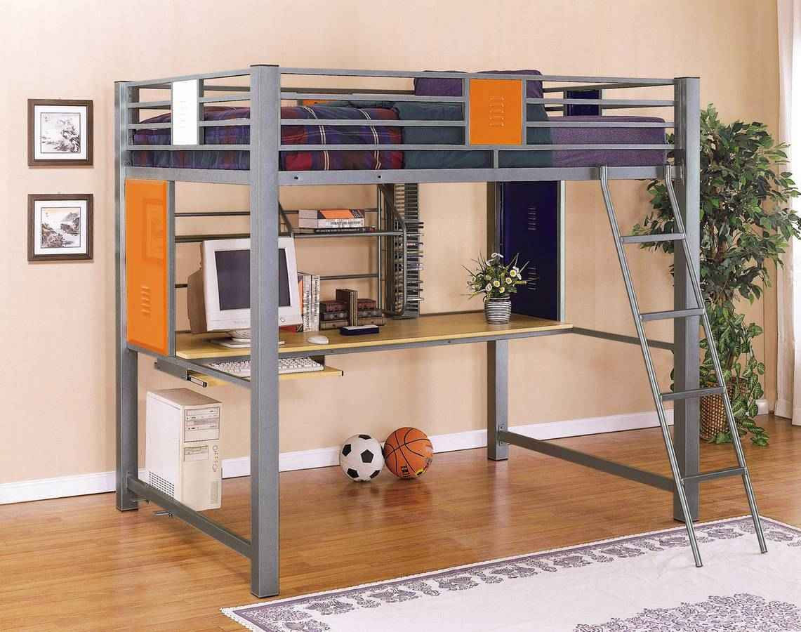 Powell Monster Loft Bunk Bed and Study Desk