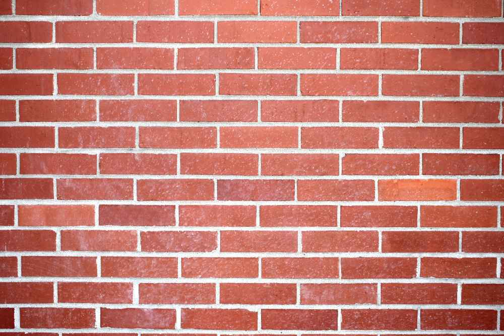 White Orange Brick Wall